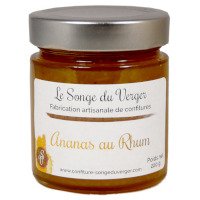 Confiture d'Ananas au Rhum en Grand Pot.