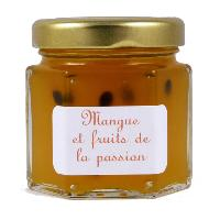 Mini pot de Confiture de Mangue et Fruits de la Passion