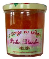 Confiture de Pêche Blanche en Grand Pot