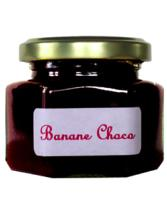 Confiture de Banane choco en pot hexagonal