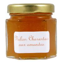 Mini pot de Confiture de Melon charentais aux amandes