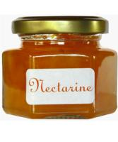 Confiture de Nectarine en pot hexagonal